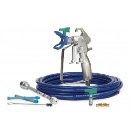 Graco RAC X Fine Finish Silver Plus Gun with Bluemax II Airless Hose